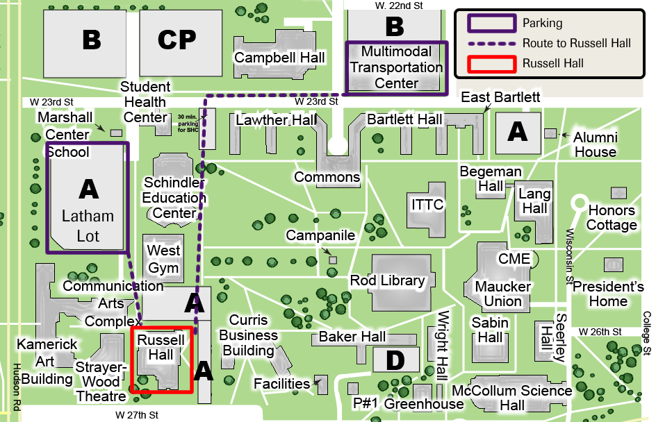 Map And Directions  University Of Northern Iowa