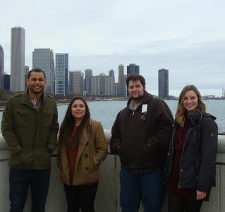 McNair Scholars with Chicago skyline