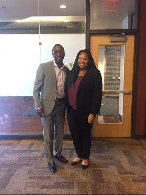 Mayor Quentin Hart and Niria White