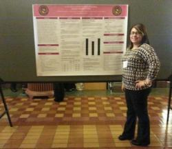 Norma Garcia presenting her research poster.